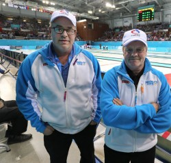Eric Montford a sinistra, Hans Wuthrich a destra