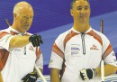 michael burns photo Canadian skip Glenn Howard and third Wayne Middaugh (right) are old pals.